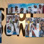 Shut Down , Installation , Huiles sur toile , Encre de chine ,2/3 m 2013.