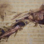 Huile - Feuilles de cuivre , 1,50/2 m, 2014.